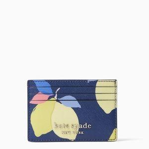 Kate Spade Cameron Lemon Zest Sml Slim Cardholder